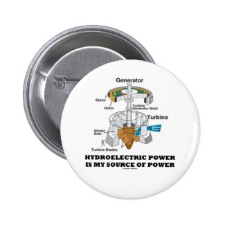 Hydroelectric Power Is My Source Of Power Pins