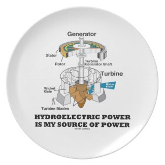 Hydroelectric Power Is My Source Of Power Plate