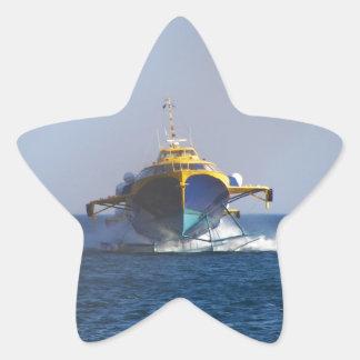 Hydrofoil At Speed Star Sticker
