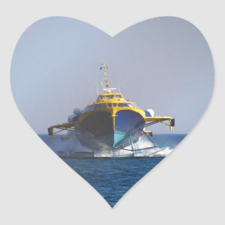 Hydrofoil At Speed Heart Stickers