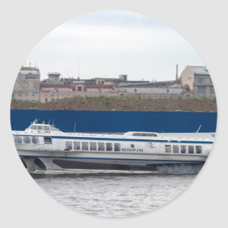 Hydrofoil St Petersburg Russia Classic Round Sticker