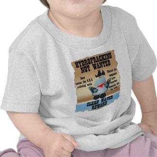 Hydrofracking no querido camisetas
