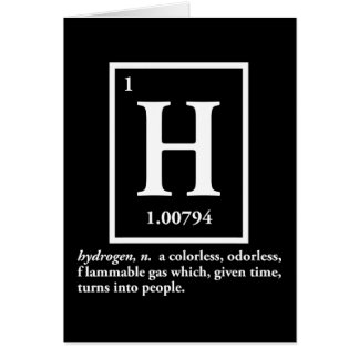 hydrogen - a gas which turns into people card