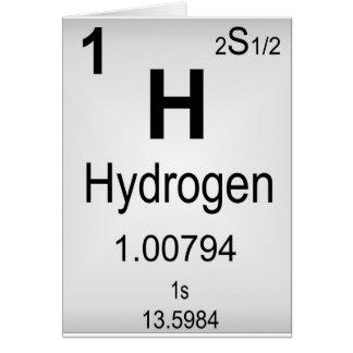 Hydrogen Greeting Card