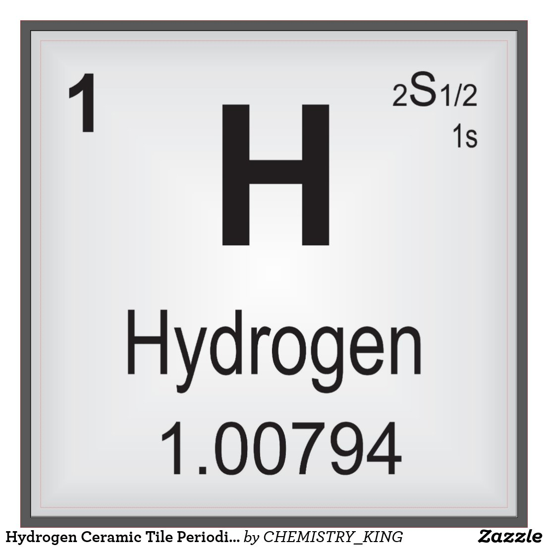 The images for hydrogen periodic table symbol hydrogen ceramic tile gamestrikefo Images