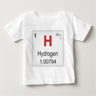 Hydrogen Individual Element of the Periodic Table Baby T-Shirt