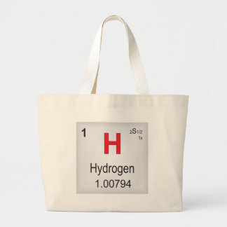 Hydrogen Individual Element of the Periodic Table Canvas Bags