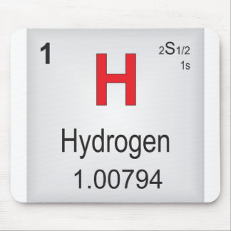Hydrogen Individual Element of the Periodic Table Mouse Pad