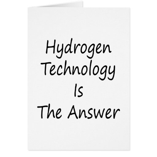 Hydrogen Technology Is The Answer Cards