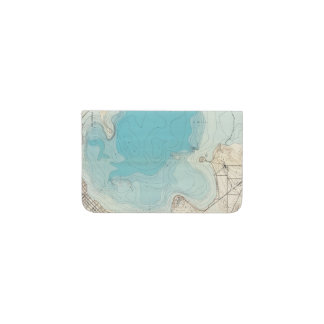 Hydrographic map Lake Mendota Business Card Holder
