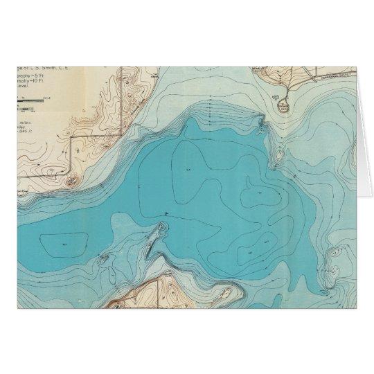 Hydrographic map Lake Mendota Card