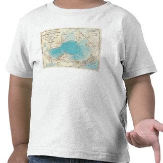 Hydrographic map Lake Mendota T-shirts