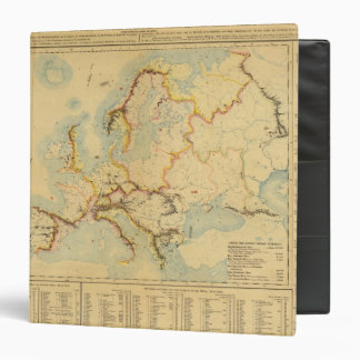 Hydrographic map of Europe Binder