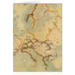 Hydrographic map of Europe Greeting Card
