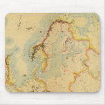 Hydrographic map of Europe Mouse Pad