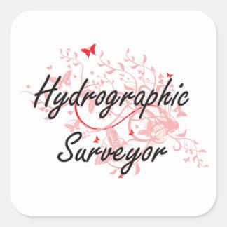 Hydrographic Surveyor Artistic Job Design with But Square Sticker