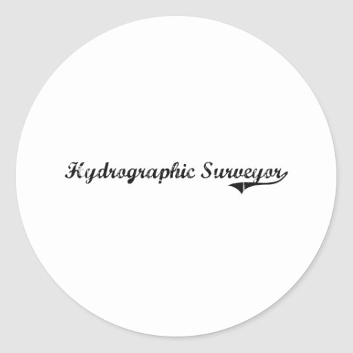 Hydrographic Surveyor Professional Job Classic Round Sticker