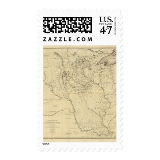 Hydrographical Basin of Mississippi River Postage
