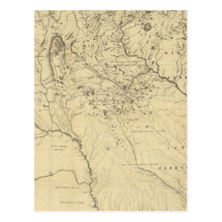 Hydrographical Basin of Mississippi River Postcard