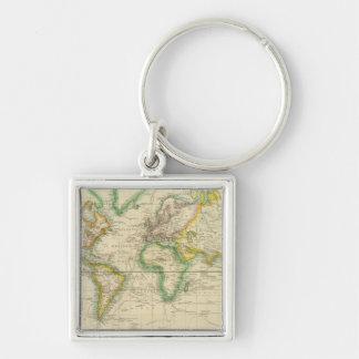 Hydrographical chart of the World Keychain
