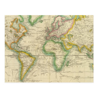 Hydrographical chart of the World Postcard