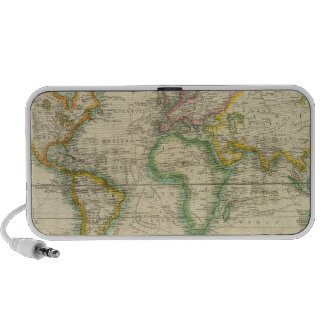 Hydrographical chart of the World iPhone Speaker