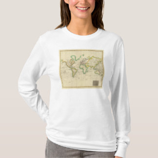 Hydrographical chart of the World T-Shirt