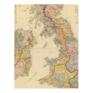 Hydrographical map, British Isles Postcard