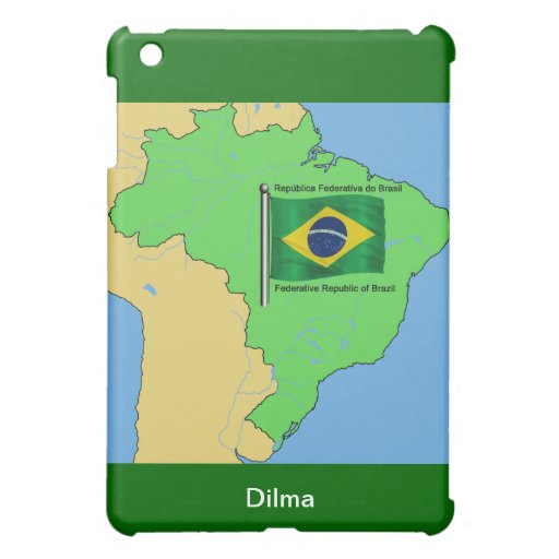 Hydrology Map and Flag of Brazil Case For The iPad Mini