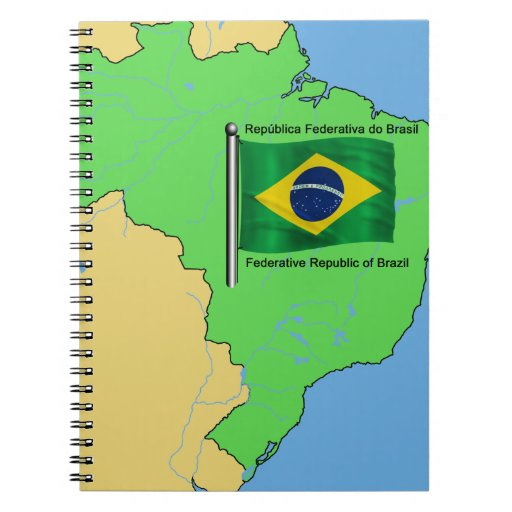 Hydrology Map and Flag of Brazil Journals