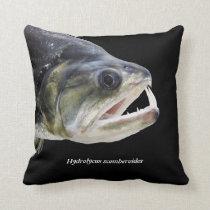 Hydrolycus scomberoides and Payara Throw Pillow