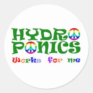 HydroNics Pegatina Redonda