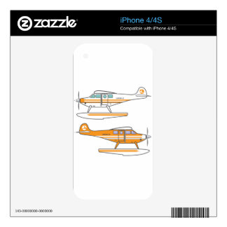 Hydroplane. Floating plane. vector Skin For The iPhone 4S