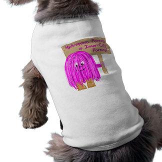 hydroponic farming is inner city farming doggie t-shirt