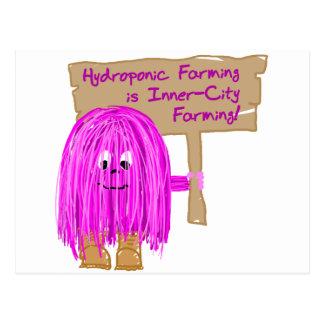 hydroponic farming is inner city farming postcard