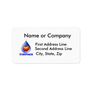 Hydroponic Tomato water drop design logo Address Label