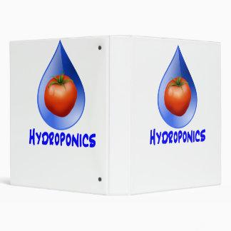Hydroponic Tomato water drop design logo Binder