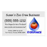 Hydroponic Tomato water drop design logo Business Card