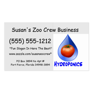 Hydroponic Tomato water drop design logo Double-Sided Standard Business Cards (Pack Of 100)