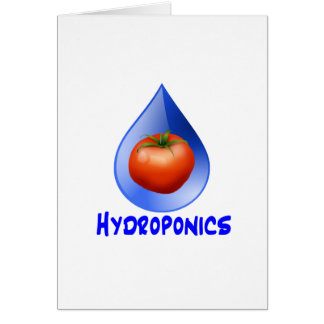 Hydroponic Tomato water drop design logo Stationery Note Card