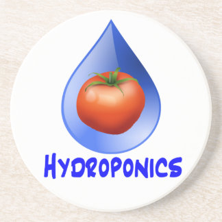 Hydroponic Tomato water drop design logo Coasters