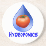 Hydroponic Tomato water drop design logo Drink Coasters
