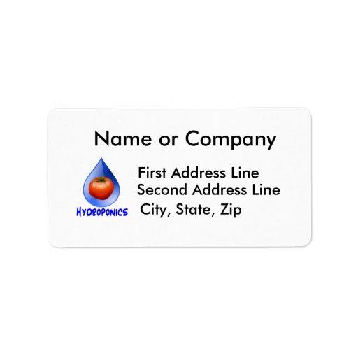 Hydroponic Tomato water drop design logo Personalized Address Labels