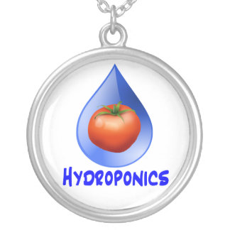 Hydroponic Tomato water drop design logo Necklaces