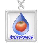 Hydroponic Tomato water drop design logo Pendant