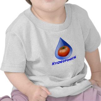 Hydroponic Tomato water drop design logo Tshirts