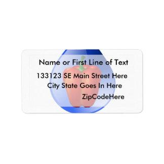 Hydroponics, Bell Pepper, drop, green text Address Label