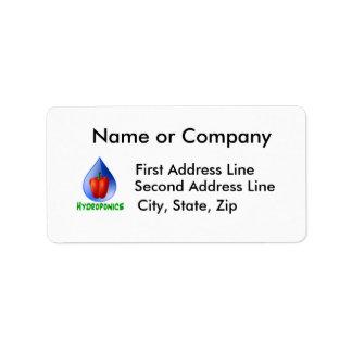 Hydroponics, Bell Pepper, drop, green text Label