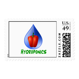 Hydroponics, Bell Pepper, drop, green text Stamps