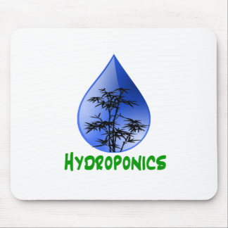 Hydroponics Black Bamboo Plant Green Text Mouse Pad